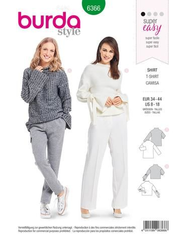 Schnittmuster Pullover H/W 2018 #6366 - Modefoto