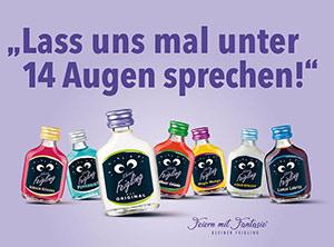 """Plakatwerbung von der Marke """"Kleiner Feigling"""""""