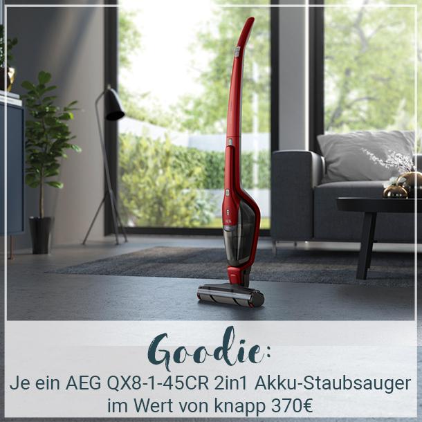 Erhalte einen AEG QX8 2in1 Akku-Staubsauger kostenlos