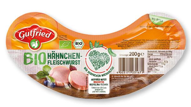 Gutfried Bio Hähnchen-Fleischwurst