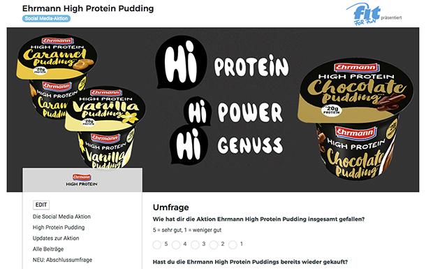 brands you love Ehrmann High Protein Pudding Abschlussumfrage