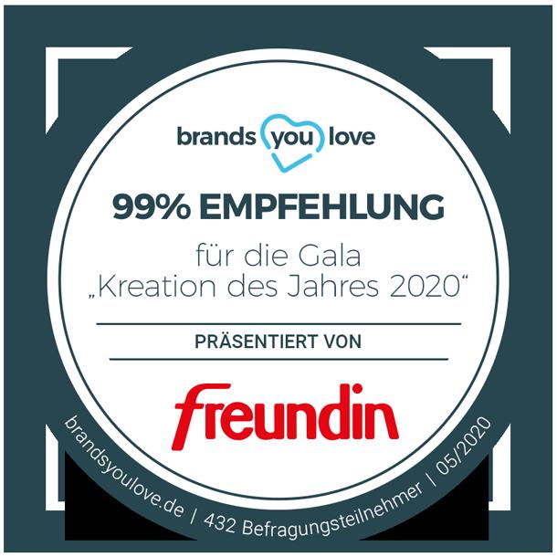 "brands you love Siegel Gala ""Kreation des Jahres 2020"""