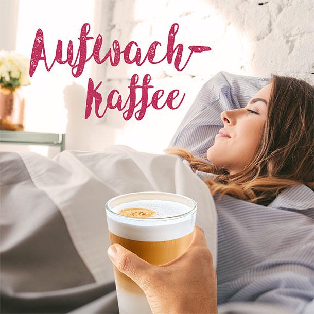 Kaffee am Bett: perfekter Morgen.