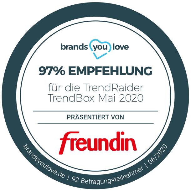 brands you love Empfehlungssiegel