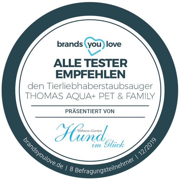 brands you love-Siegel für THOMAS