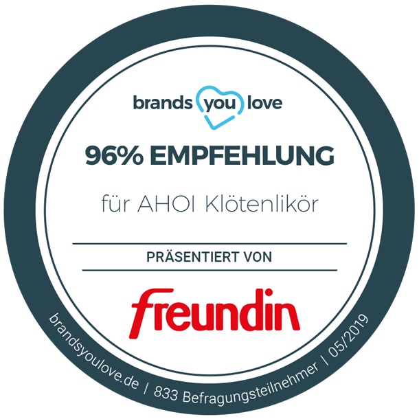 brands you love Siegel für AHOI Klötenlikör