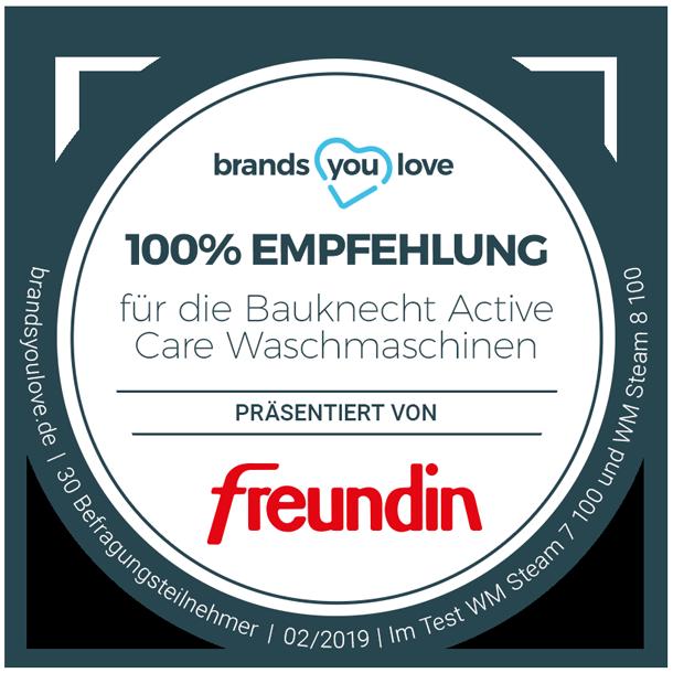 brands you love Siegel für Bauknecht Active Care Waschmaschinen