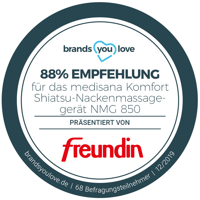 Siegel brands you love Nackenmassagegerät medisana