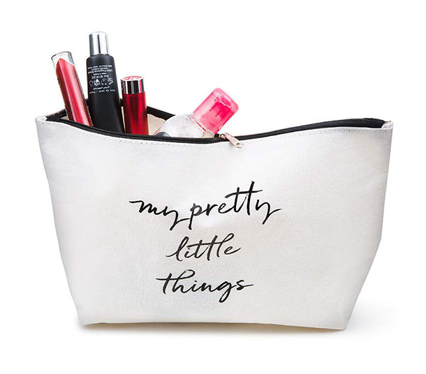 prettique Beauty Bag Spruch-Print