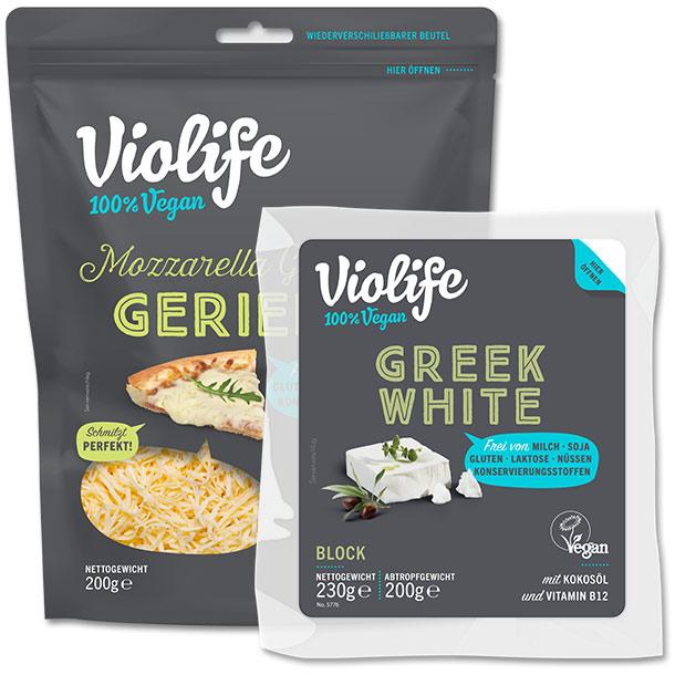 Violife Greek White & Mozzarella Geschmack Gerieben