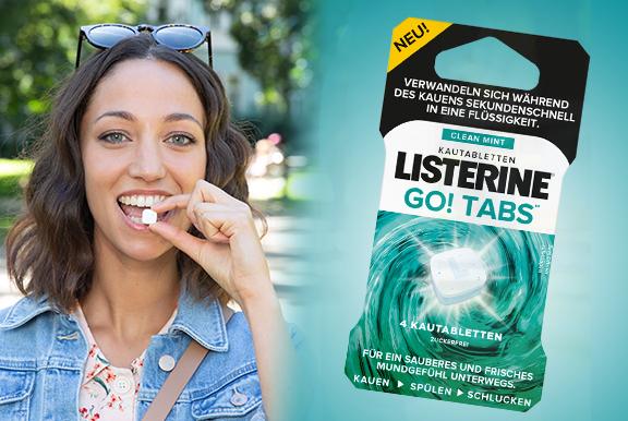 LISTERINE® GO! Tabs™ kostenlos testen