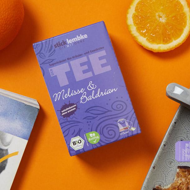 sticklembke Superkräuter Bio-Tee Melisse & Baldrian