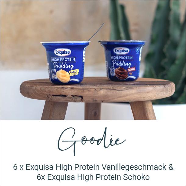 Goodie: 6x Exquisa High Protein Vanille & 6x Exquisa High Protein Schoko
