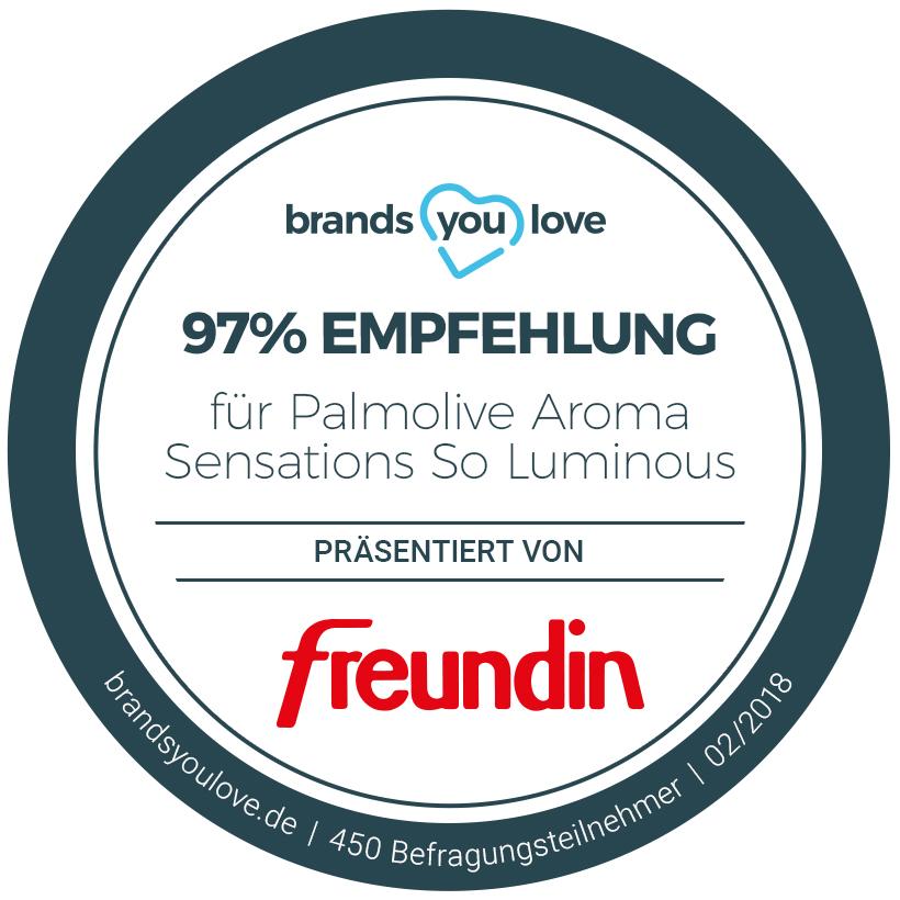 brands you love Siegel für das Palmolive Aroma Sensations Oils So Luminous Duschgel