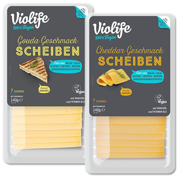 Violife Gouda Geschmack Scheiben & Cheddar Geschmack Scheiben
