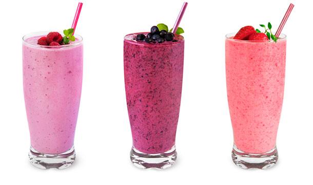 Drei leckere Joghurt-Shakes