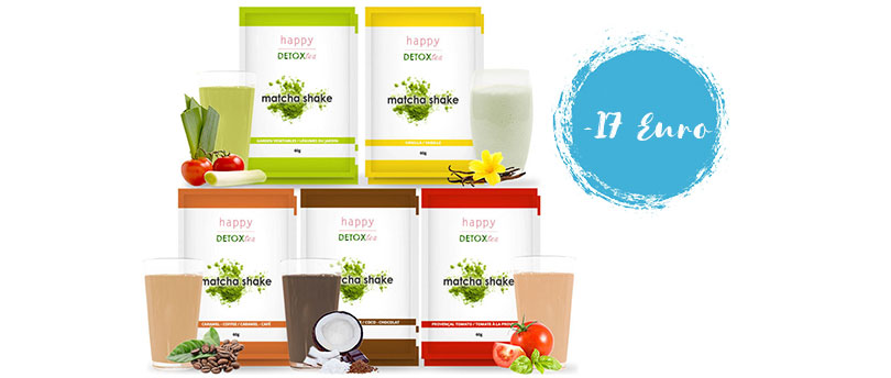 Matcha-Shakes-Set von Happy Detox Tea