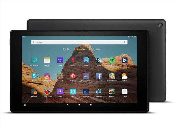 Fire HD 10-Tablet in Schwarz