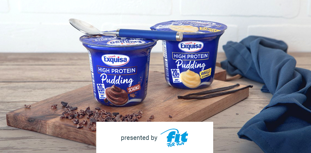 Exquisa High Protein Pudding kostenlos testen