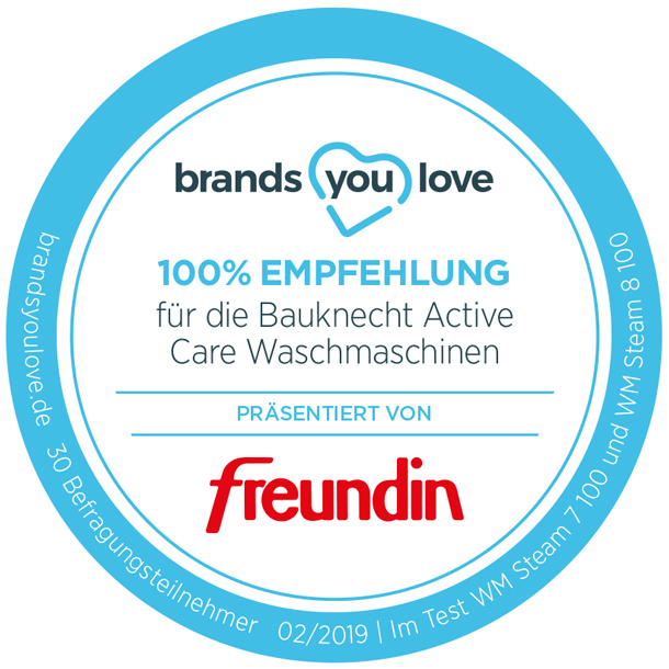 brands you love-Siegel für Bauknecht Active Care