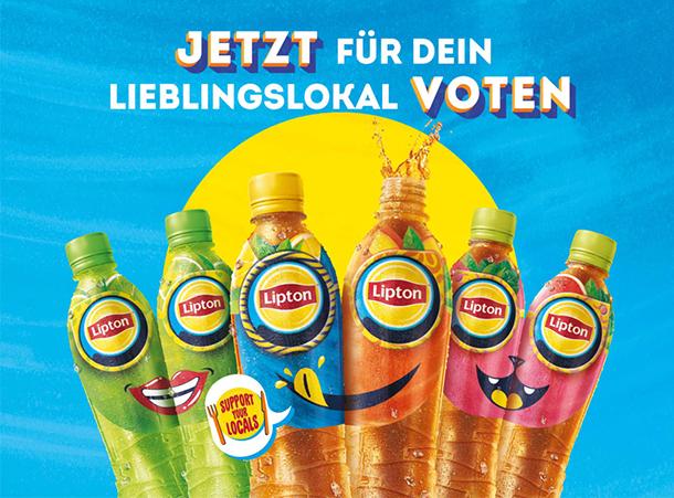 """""""JETZT FÜR DEIN LIEBLINGSLOKAL VOTEN"""" von Lipton"""