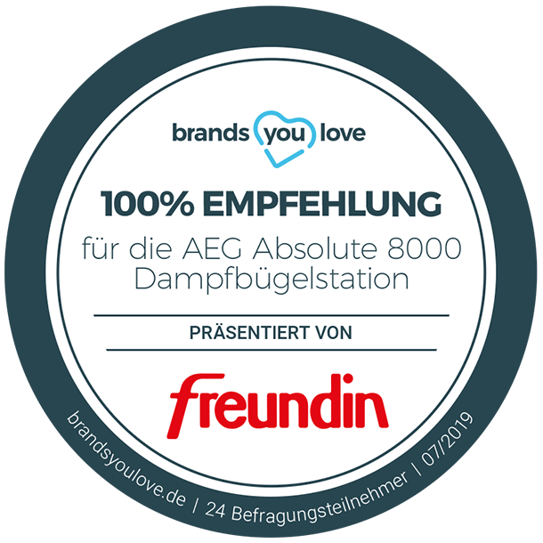 brands you love Siegel für die AEG Absolute 800 Dampfbügelstation