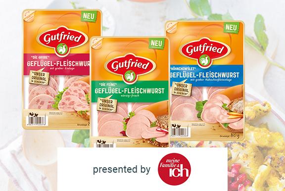 Gutfried Geflügel-Fleischwurst in Scheiben kostenlos testen