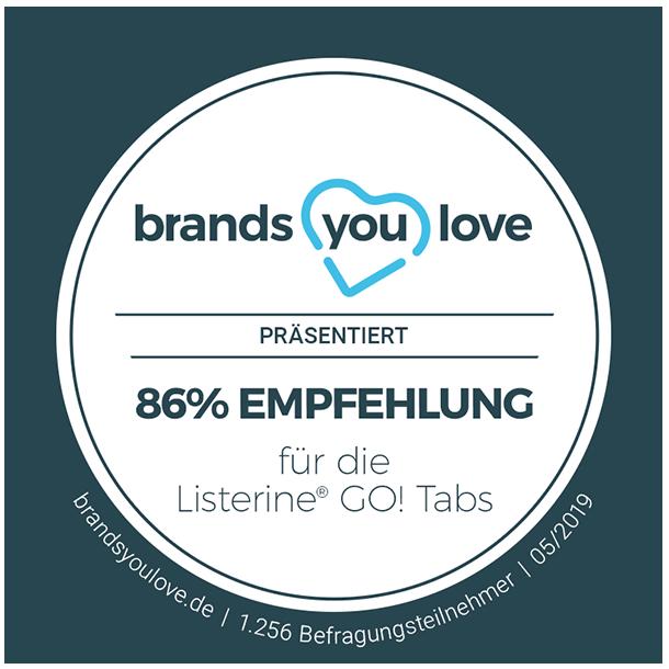 brands you love Siegel für LISTERINE® GO! Tabs™