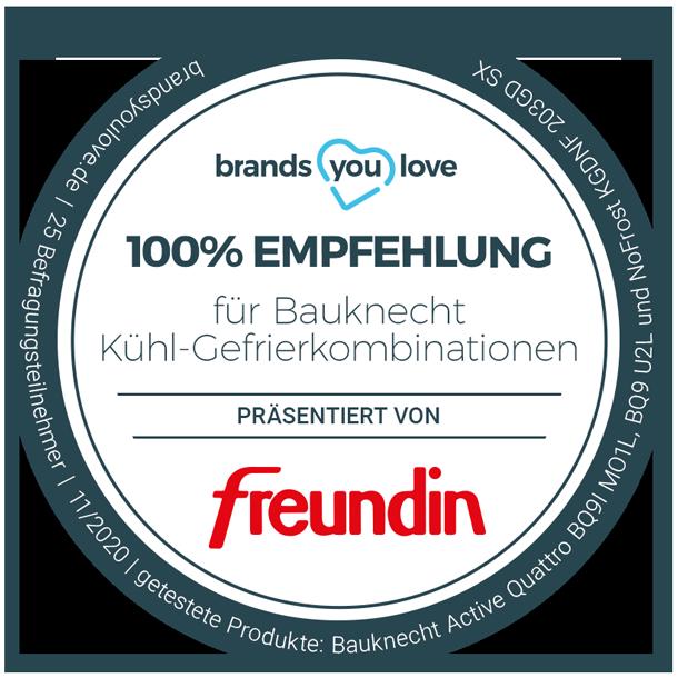 brands you love Siegel Bauknecht Kühl- und Gefrierkombinationen