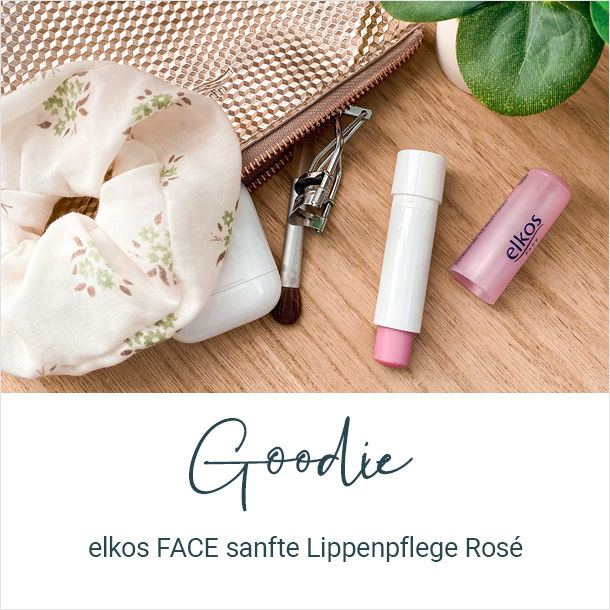 Goodie: elkos FACE sanfte Lippenpflege Rosé