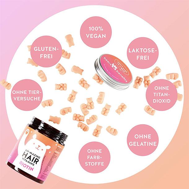 Ah-mazing Hair Vitamins mit Biotin Vorteile