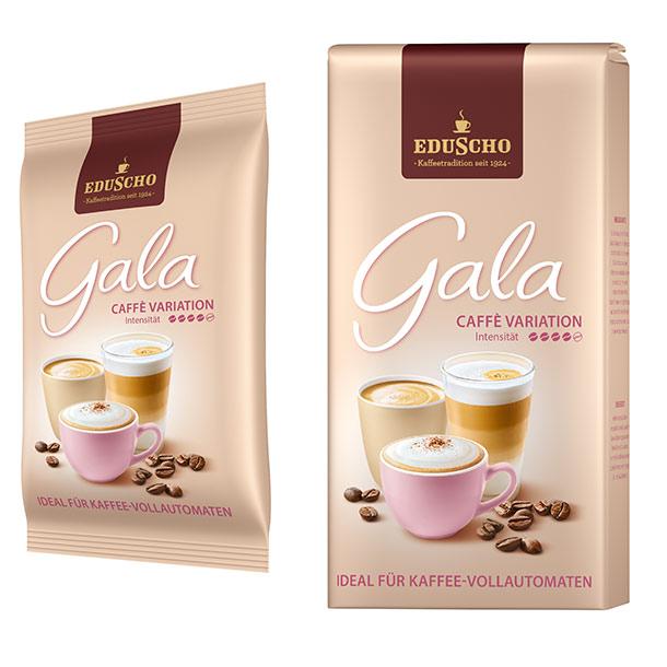 Zwei Packungen von Gala von Eduscho Caffè Variation