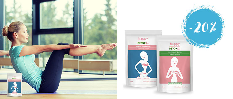 20% Rabatt auf Morning Detox Tea & Evening Slimming Tea von Happy Detox Tea
