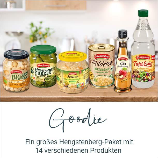 Goodie: Ein großes Hengstenberg-Paket mit 14 verschiedenen Produkten