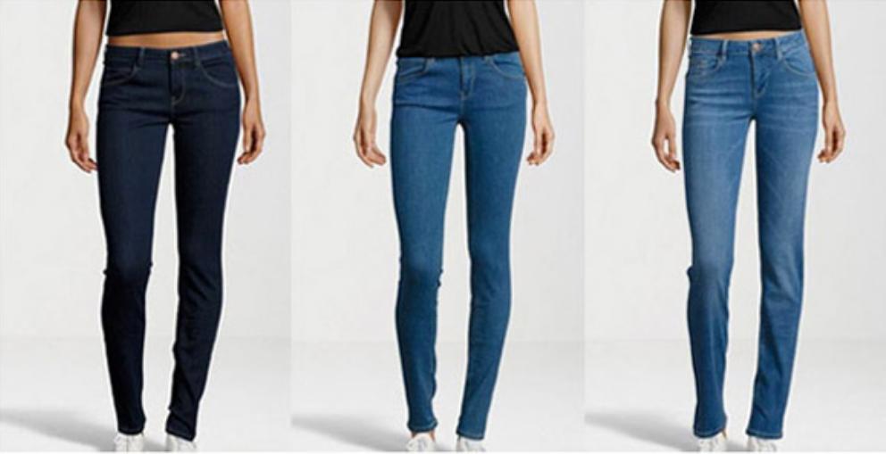 Skinny Jeans, dark blue wash / Skinny Jeans, light blue wash / Slim Jeans, light blue wash