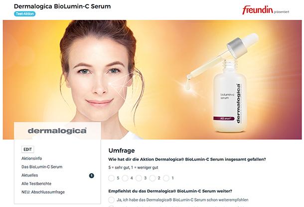 Dermalogica BioLumin-C Abschlussumfrage