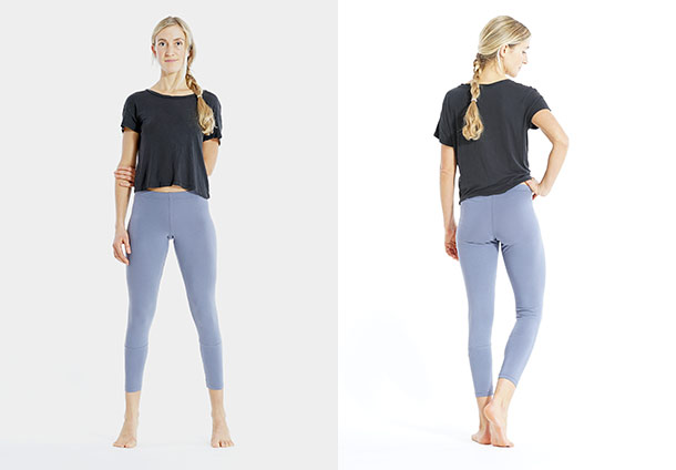 Yoga Leggings 7/8 - BURGUNDY