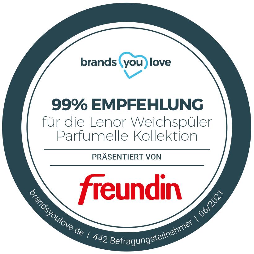 99% Empfehlung: brands you love Siegel