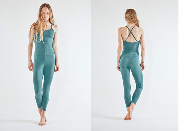 Yoga Jumpsuit Cross - CYAN
