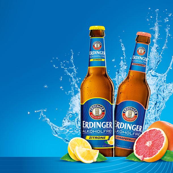 ERDINGER Alkoholfrei Zitrone und ERDINGER Alkoholfrei Grapefruit