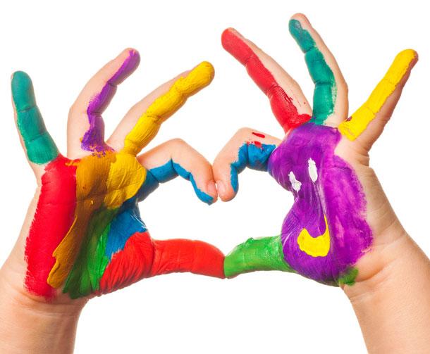 Kinder lieben Fingerfarben - jetzt kostenlos testen