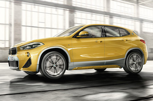BMW X2 in gold