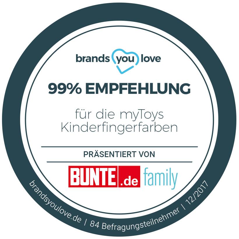 brands you love Siegel für myToys Kinderfingerfarben