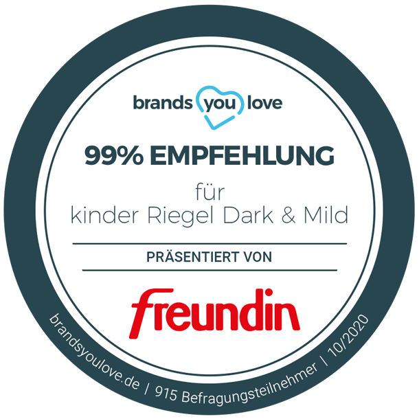 brands you love Siegel kinder Riegel Dark & Mild