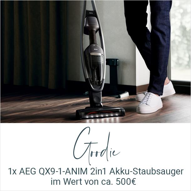 Goodie der AEG QX9 Tester