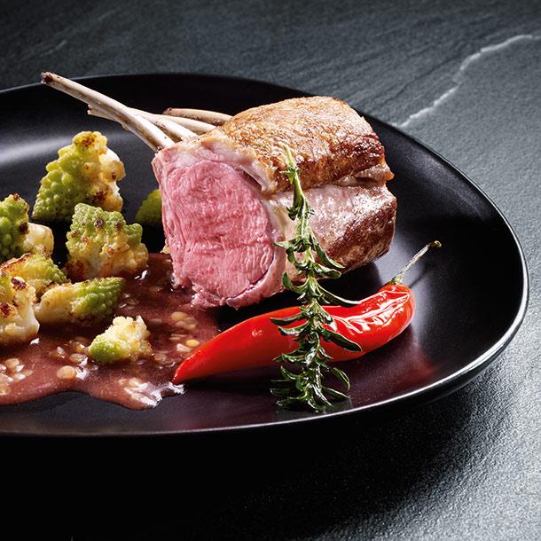 Geschmortes Lamm-Kotelett