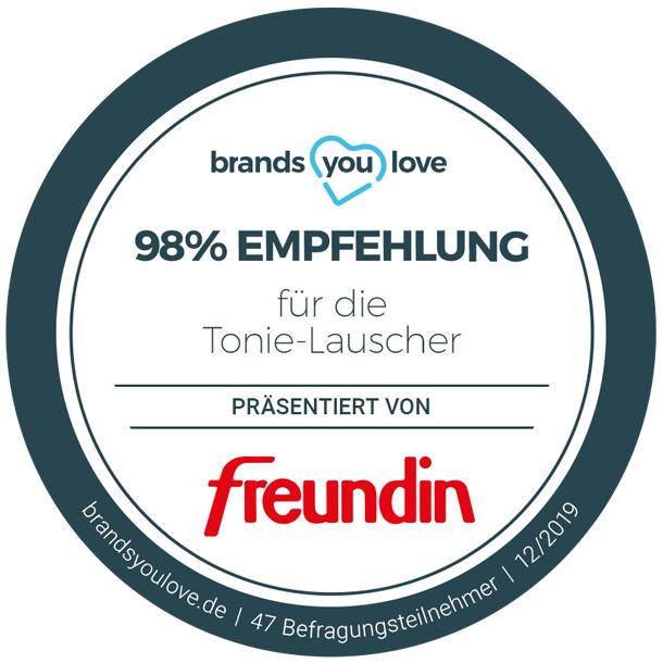 brands you love-Siegel für Tonie-Lauscher