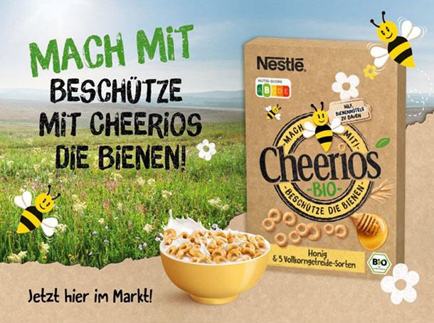 Mach Mit Beschütze mit Cheerios die Bienen!