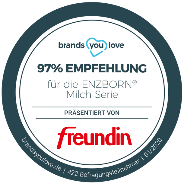 brands you love-Siegel für ENZBORN
