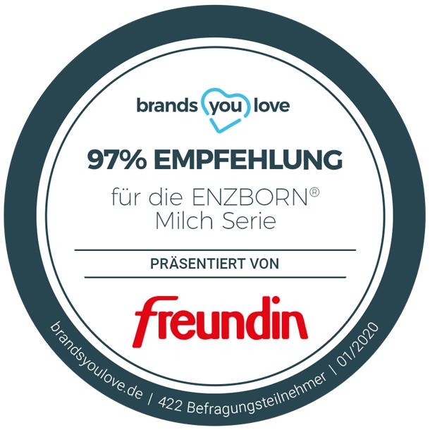 brands you love-Siegel für ENZBORN